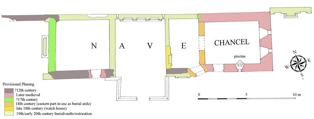 22 Image 4 Preston Phased plan of Preston medieval Church