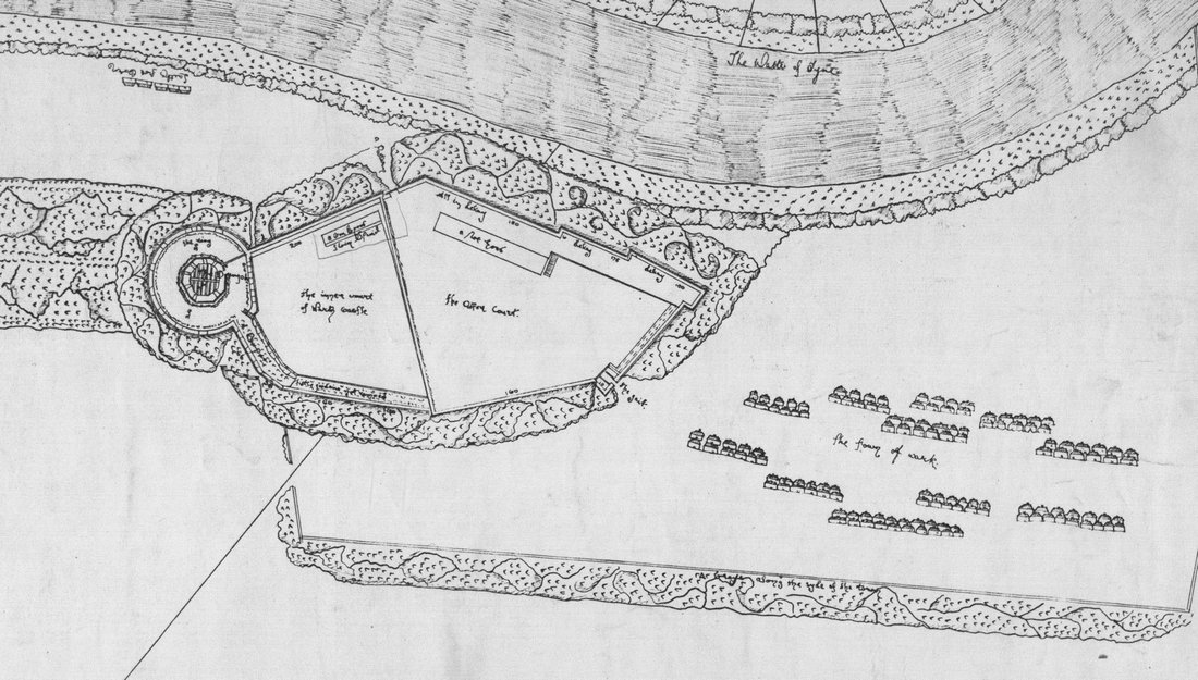 24 Image 1 Part of Johnsons plan of Wark Castle 1561