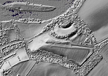 25 Image 4 Lidar view of earthworks in and around Norham castle site