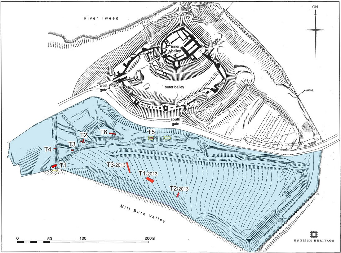 25 Image 6 The location of trenches within the Norham Castle study area