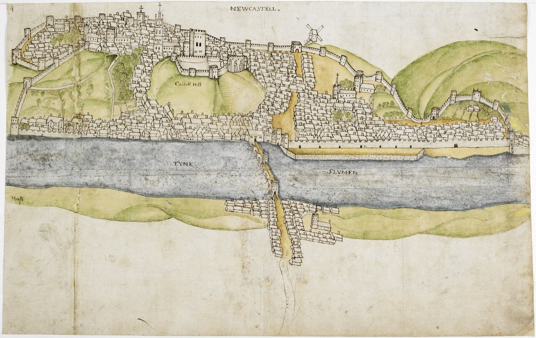 30 Image 3 Plan of Newcastle upon Tyne 1545 © The British Library Board