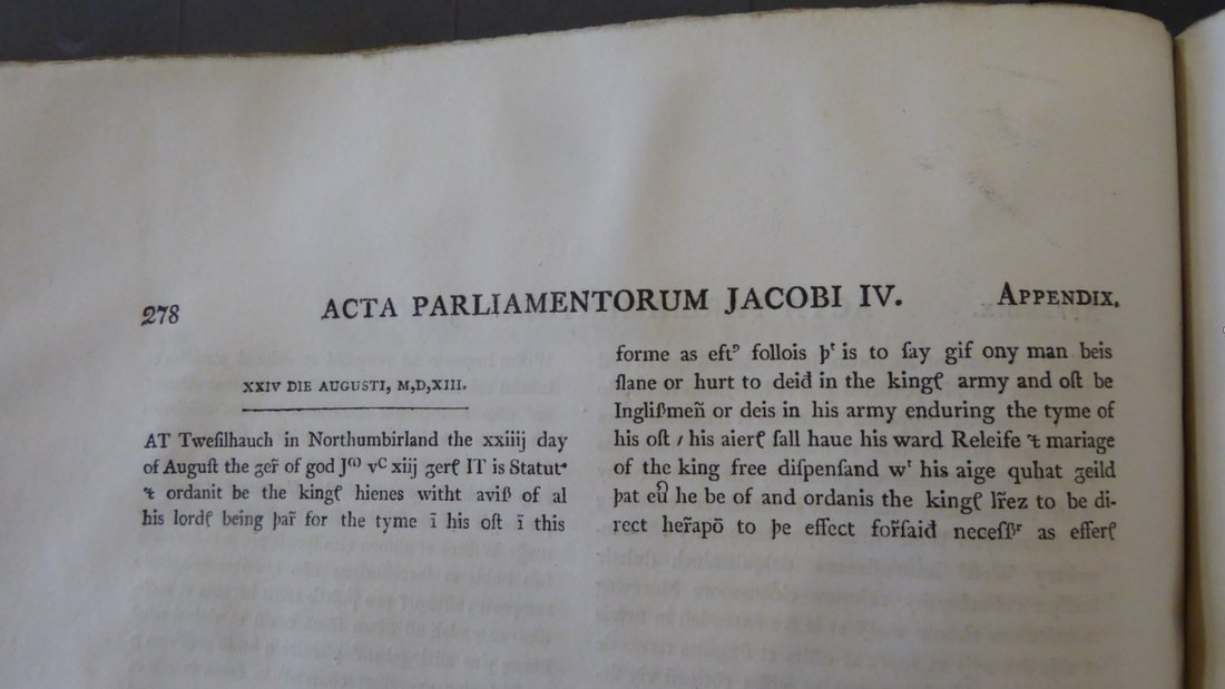 33 Image 5 Page from The Acts of the Parliaments of Scotland 1814