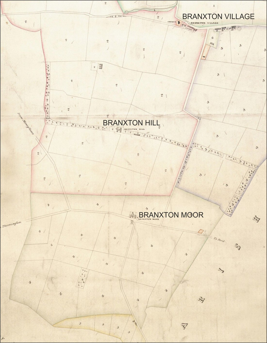 34 Illus 01 Part of the 1842 Branxton Tithe plan