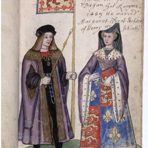 4. Image 2 - James IV and Queen Margaret from the Seton Armourial, 1591. Reproduced by permission of Sir Francis Ogilvy and the National Library of Scotland